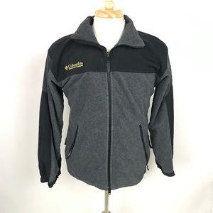 Columbia Mens Gray Titanium Fleece Zip Up Jacket